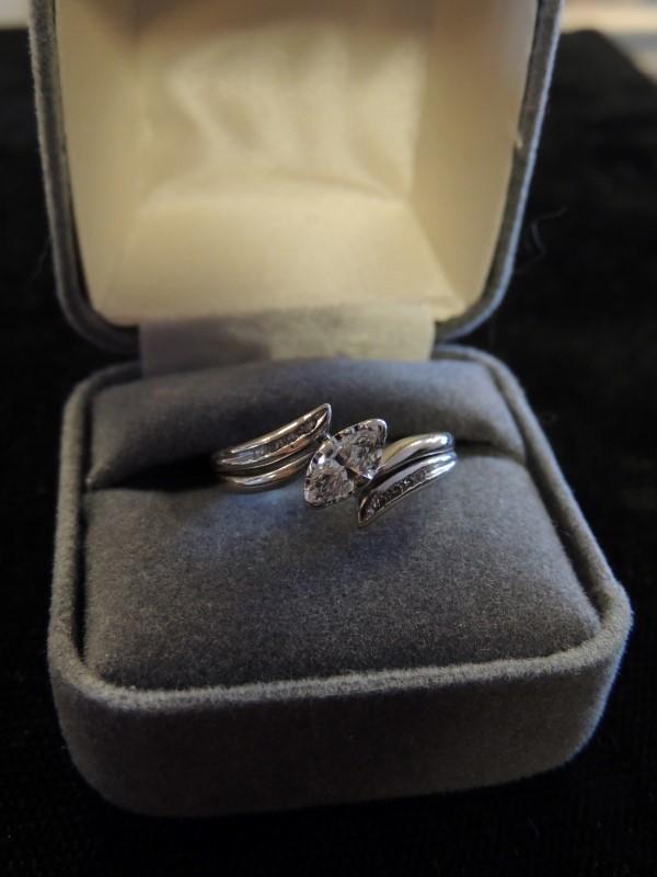 Lady's Diamond Wedding Set 9 Diamonds .43 Carat T.W. 14K White Gold 3.5g