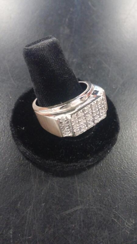 Gent's Diamond Fashion Ring 23 Diamonds .23 Carat T.W. 10K Yellow Gold 5.1dwt