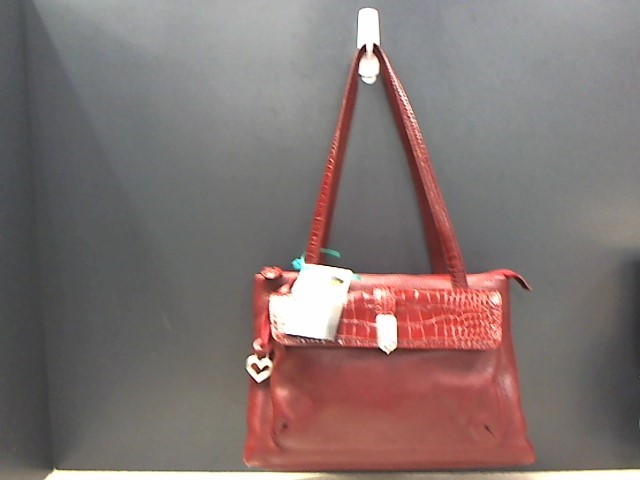 BRIGHTON RED LEATHER SATCHEL A539771