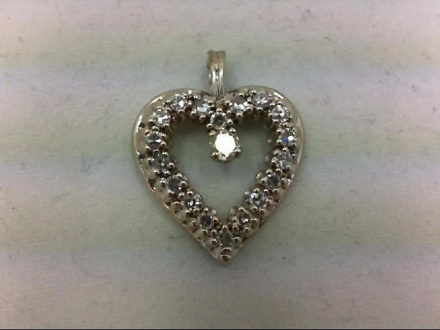 Gold-Multi-Diamond Pendant 19 Diamonds 0.46 Carat T.W. 14K White Gold 2.1g