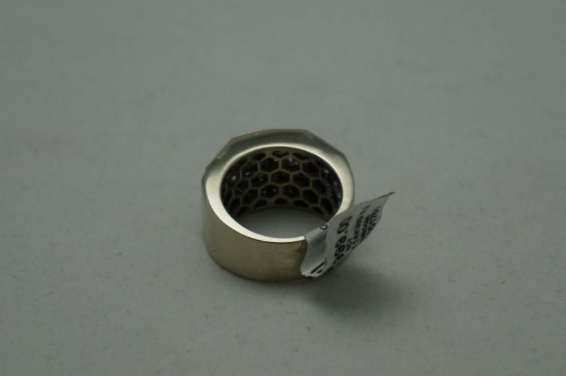 Gent's Diamond Cluster Ring 108 Diamonds 2.16 Carat T.W. 14K White Gold 9.2dwt