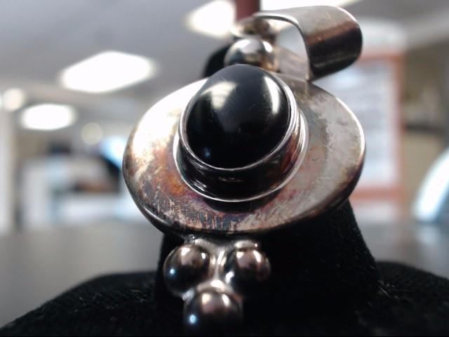Onyx Silver-Stone Pendant 925 Silver 12.7g