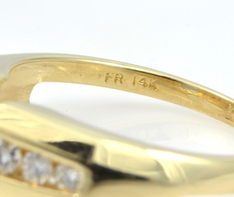 ESTATE DIAMOND RING GUARD JACKET BAND SOLID 14K GOLD WEDDING 6.5