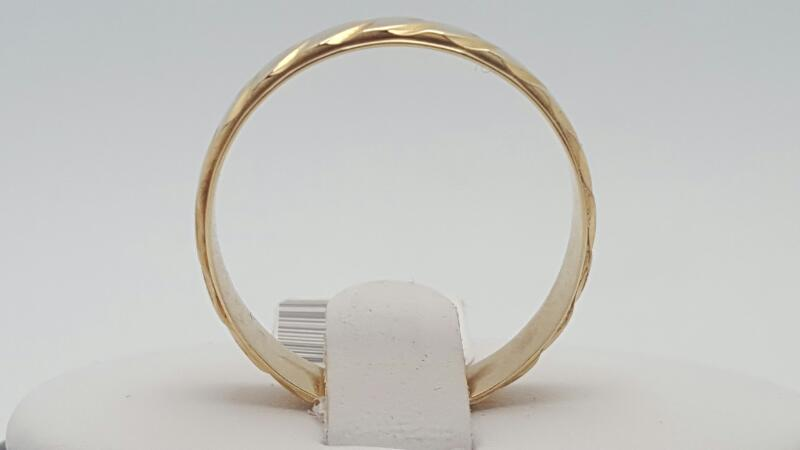 Gent's Gold Ring 14K Yellow Gold 4.3g Size:12