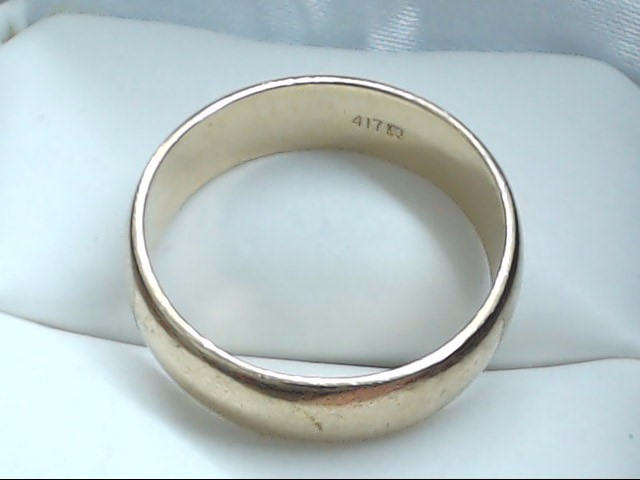 Gent's Gold Wedding Band 10K Yellow Gold 5.3g Size:9.3