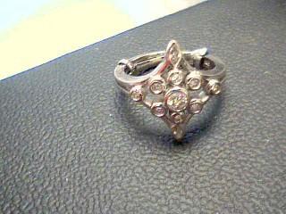 Lady's Diamond Cluster Ring 11 Diamonds .34 Carat T.W. 14K White Gold 5.1g