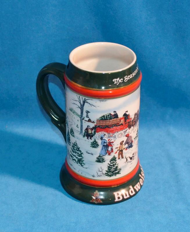 1991 BUDWEISER HOLIDAY BEER STEIN THE SEASON'S BEST