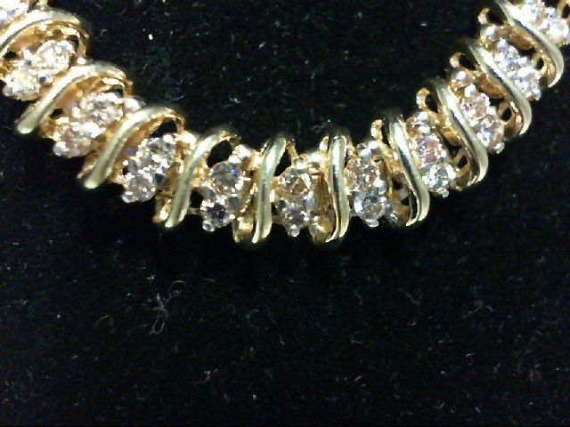 Gold-Diamond Bracelet 100 Diamonds 2 Carat T.W. 10K Yellow Gold 14.2g