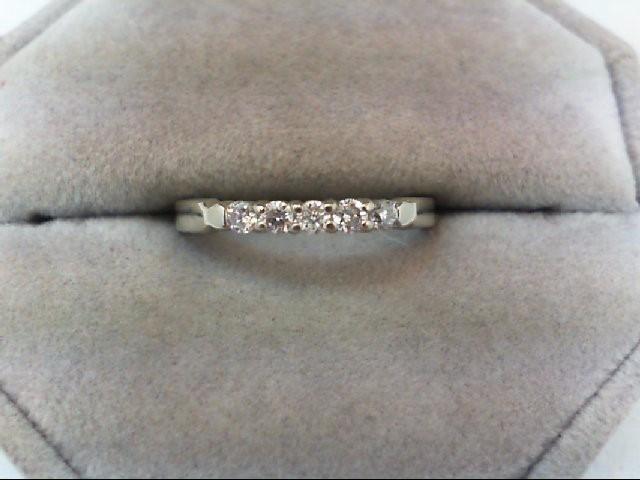 Lady's Diamond Wedding Set 5 Diamonds .20 Carat T.W. 14K White Gold 1.9g