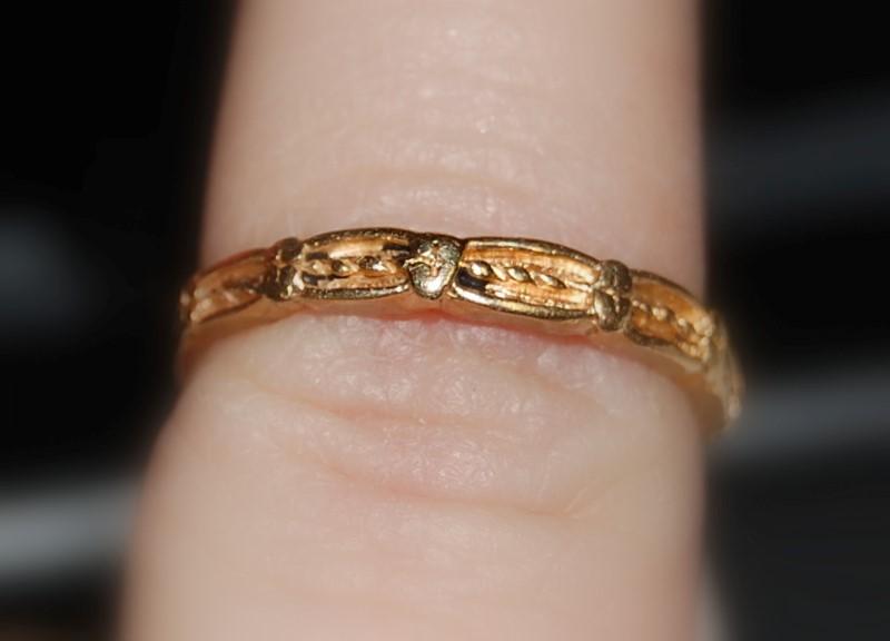 Lady's Gold Wedding Band 14K Yellow Gold 1.9g
