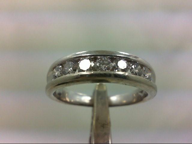 Gent's Platinum-Diamond Wedding Band 7 Diamonds .91 Carat T.W. 950 Platinum