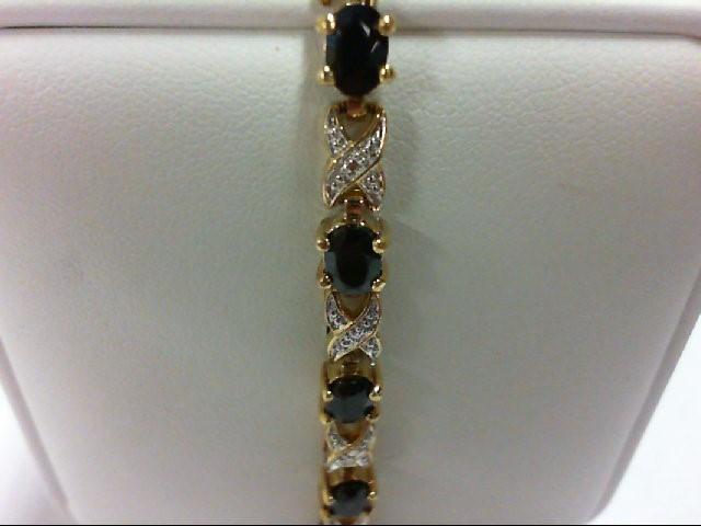 Sapphire Silver-Stone Bracelet 925 Silver 12.3g