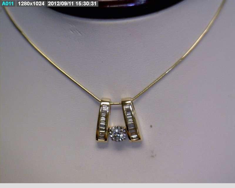 "18"" Diamond Necklace 19 Diamonds 0.51 Carat T.W. 14K Yellow Gold 3.83dwt"