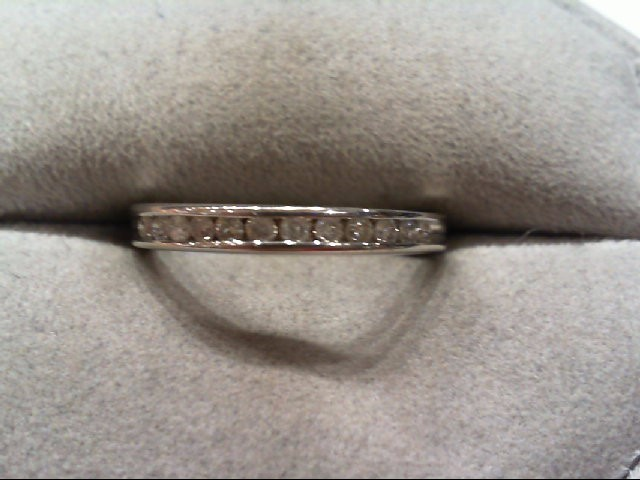 Lady's Diamond Wedding Band 12 Diamonds .24 Carat T.W. 10K White Gold 1.6g
