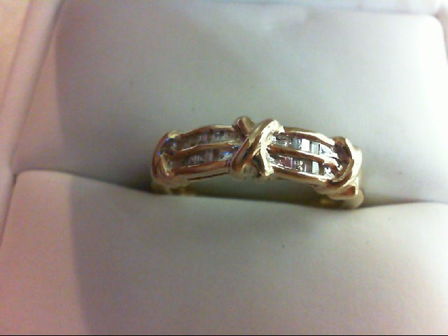 Lady's Diamond Wedding Band 20 Diamonds 0.2 Carat T.W. 10K Yellow Gold 2.6g