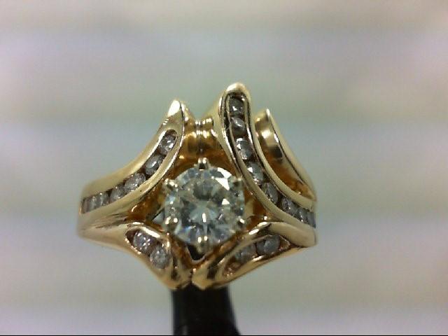 Lady's Diamond Wedding Band 22 Diamonds 0.92 Carat T.W. 14K Yellow Gold 7.2g