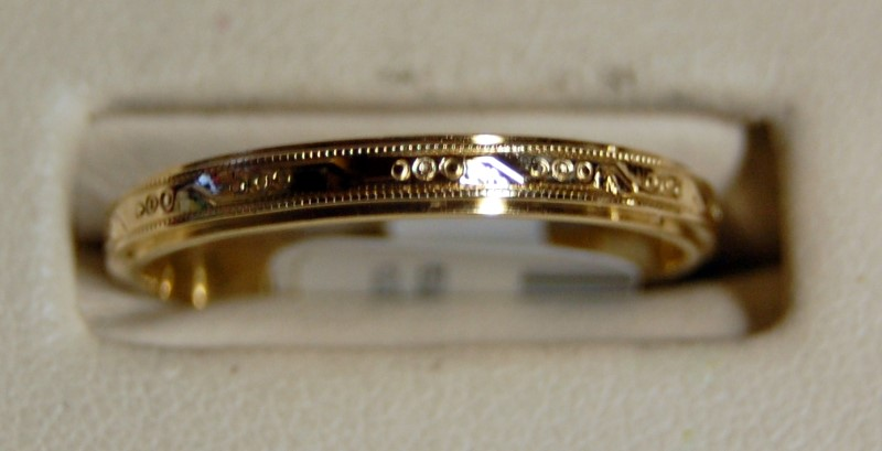 14K Yellow Gold Gent's Wedding Band 2.5G Size 10