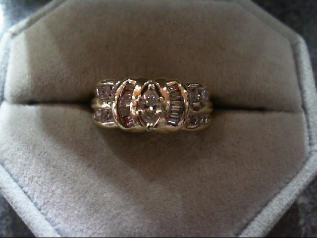 Lady's Diamond Fashion Ring 23 Diamonds .78 Carat T.W. 14K Yellow Gold 4.8g