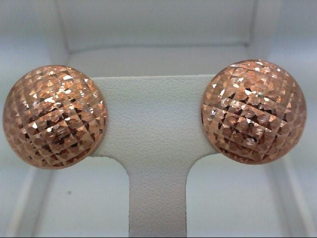 Gold Earrings 14K Rose Gold 2.1g