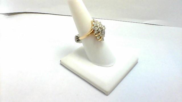 Lady's Diamond Cluster Ring 20 Diamonds .20 Carat T.W. 14K Yellow Gold 5g