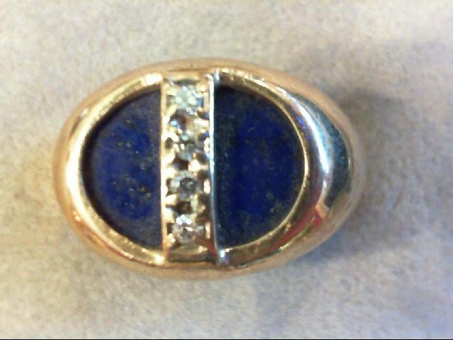 Gent's Diamond Fashion Ring 4 Diamonds .08 Carat T.W. 10K Yellow Gold 7.3g