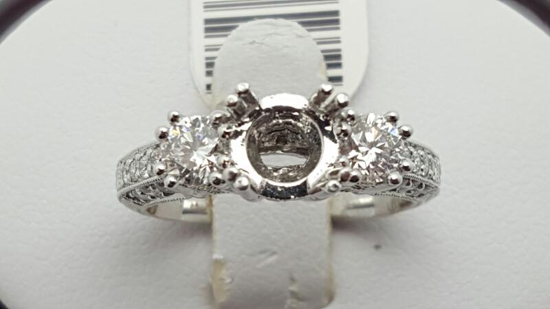 Lady's Platinum-Diamond Wedding Band 43 Diamonds .95 Carat T.W. 950 Platinum 10.