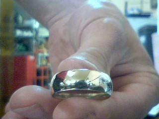 Gent's Gold Wedding Band 14K White Gold 6.32g Size:10.5