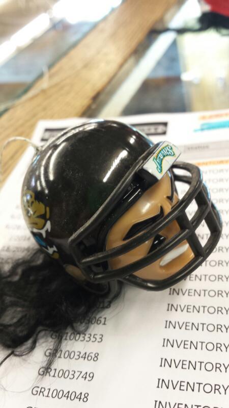 JACKSONVILLE JAGUAR HAND MADE CREATURE W/ FOOTBALL TEAM HELMET