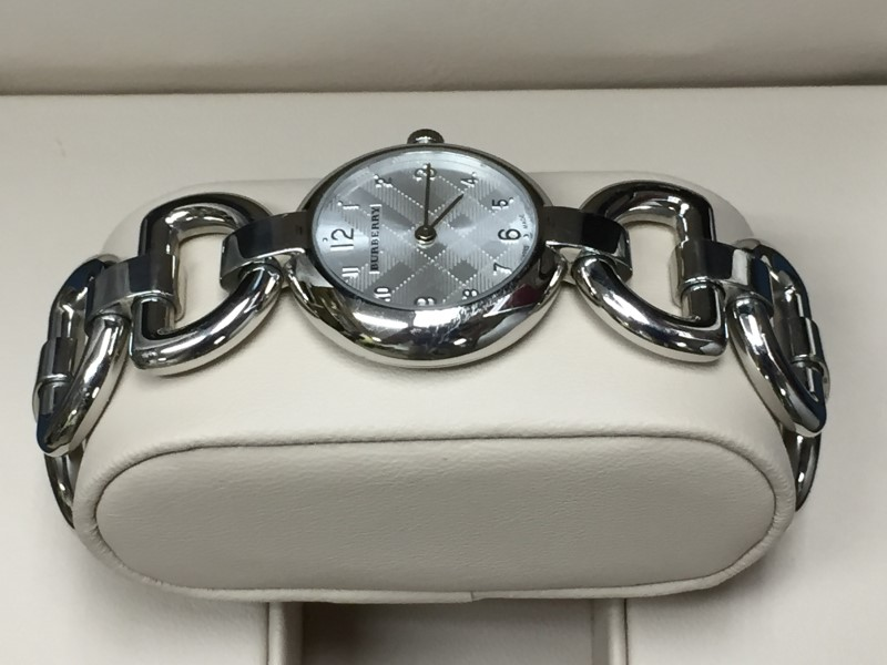 Burberry BU5400 Swiss Made Signature Women's St. Steel Bracelet Watch w/ Box