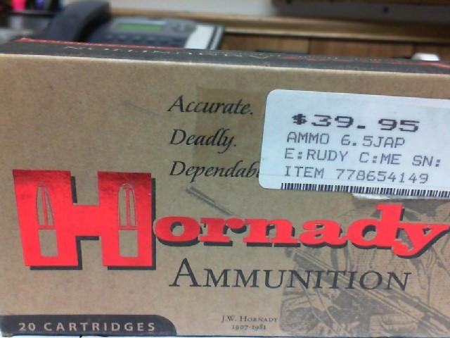 HORNADY Ammunition 6.5 JAP 140 GR SP 80485