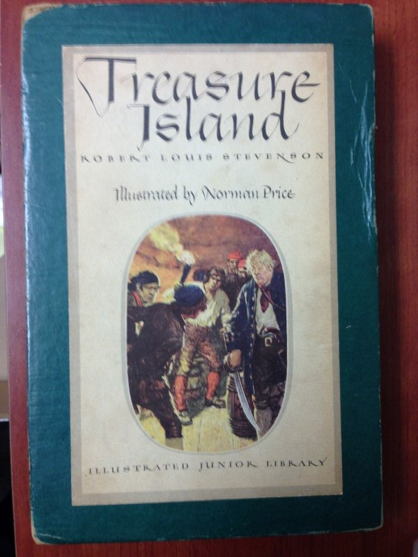 HARD COVER TREASURE ISLAND ILLUSTRATED JR. LIBRARY 1947 BOOK W/ SLIPCASE