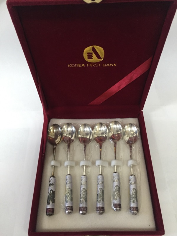 KOREA FIRST BANK DESSERT SPOONS