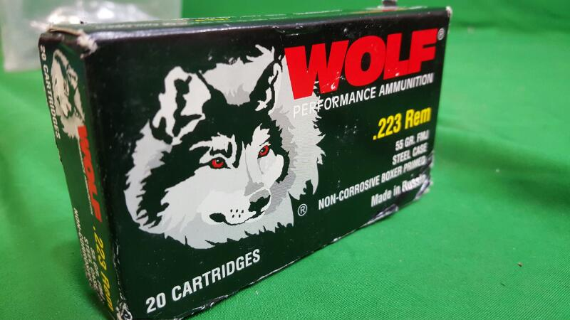 WOLF AMMO Ammunition .223 55 GR HP 20 COUNT