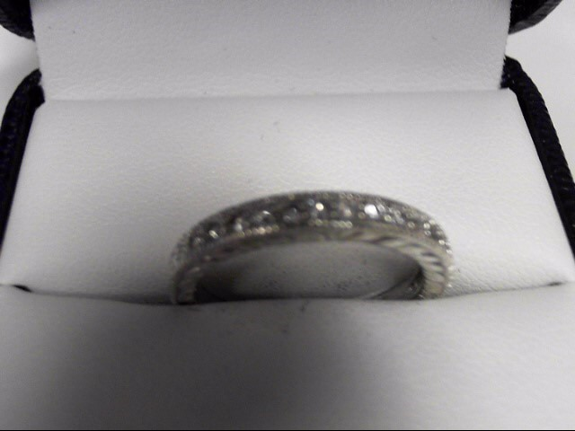 Lady's Silver Wedding Band 925 Silver 4.1g Size:8