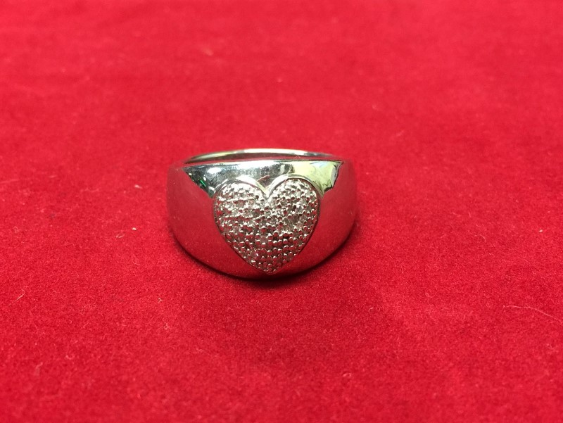 Lady's Silver Ring 925 Silver 6dwt Size:9