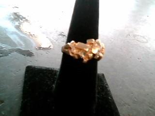 Gent's Diamond Fashion Ring 4 Diamonds .20 Carat T.W. 10K Yellow Gold 4.07dwt