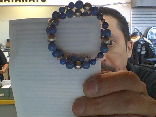 Blue Stone Silver-Stone Bracelet 925 Silver 31.1g