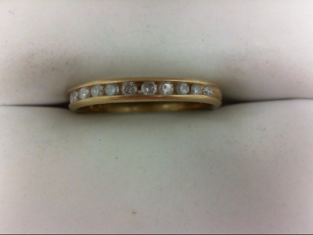 Lady's Diamond Wedding Band 12 Diamonds 0.36 Carat T.W. 10K Yellow Gold 1.5g