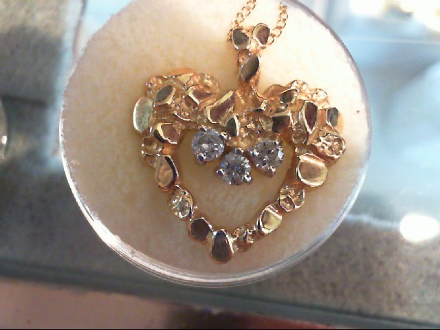 "18"" Diamond Necklace 3 Diamonds .30 Carat T.W. 14K Yellow ..."