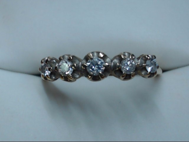 Lady's Gold-Diamond Anniversary Ring 5 Diamonds .05 Carat T.W. 10K Yellow Gold