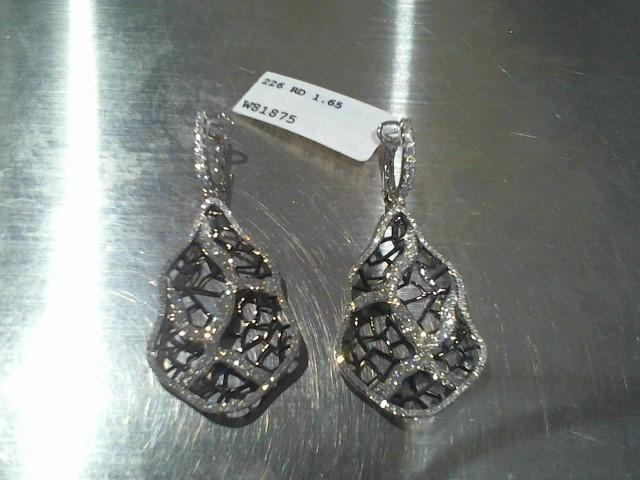 Gold Earrings 14K White Gold 7.82g