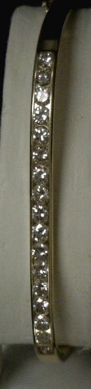 Gold-Diamond Bracelet 17 Diamonds 1.7 Carat T.W. 14K Yellow Gold 9.3dwt