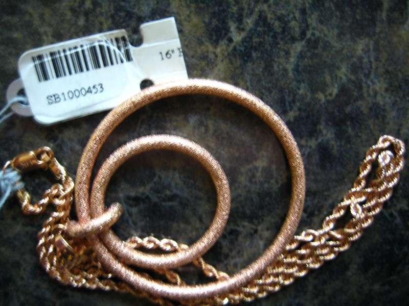 """16"""" Gold Rope Chain 14K Rose Gold 7.7g"""