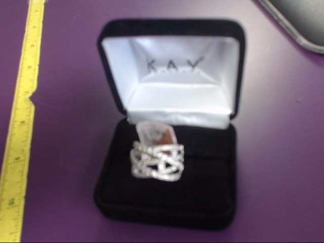 Lady's Diamond Fashion Ring 50 Diamonds 1.00 Carat T.W. 14K White Gold 6g