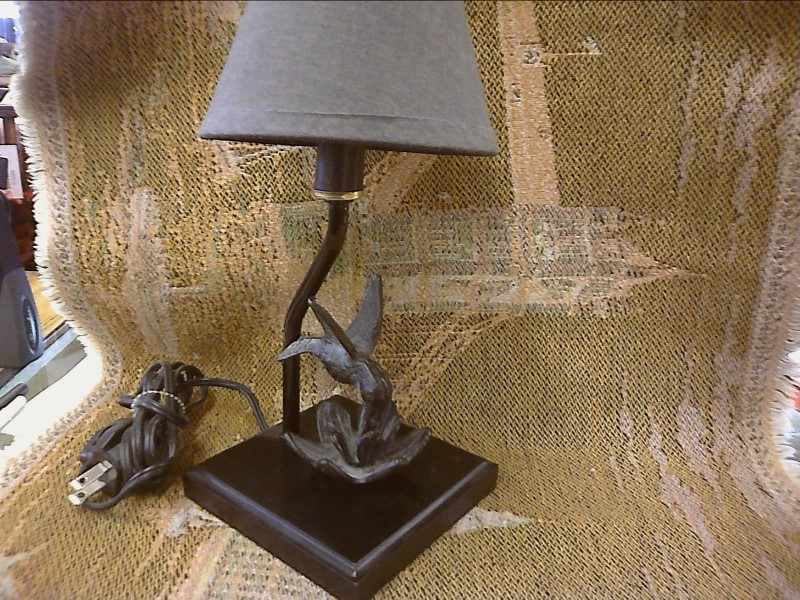 LAMP W/BRASS HUMMINGBIRD