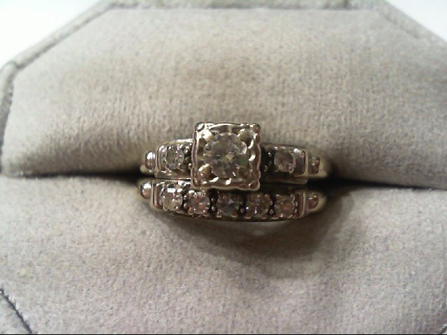 Lady's Diamond Wedding Set 8 Diamonds .48 Carat T.W. 14K White Gold 5.4g