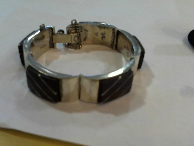 Brown Stone Silver-Stone Bracelet 925 Silver 43.8g