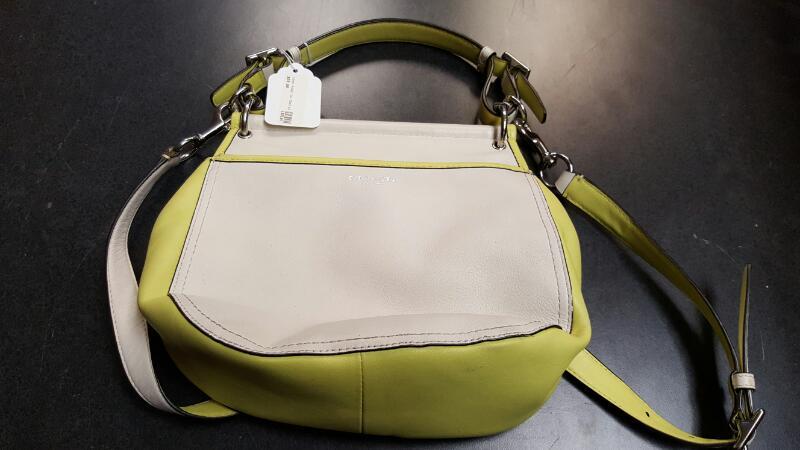 COACH Handbag WILLIS - Light Green & Beige
