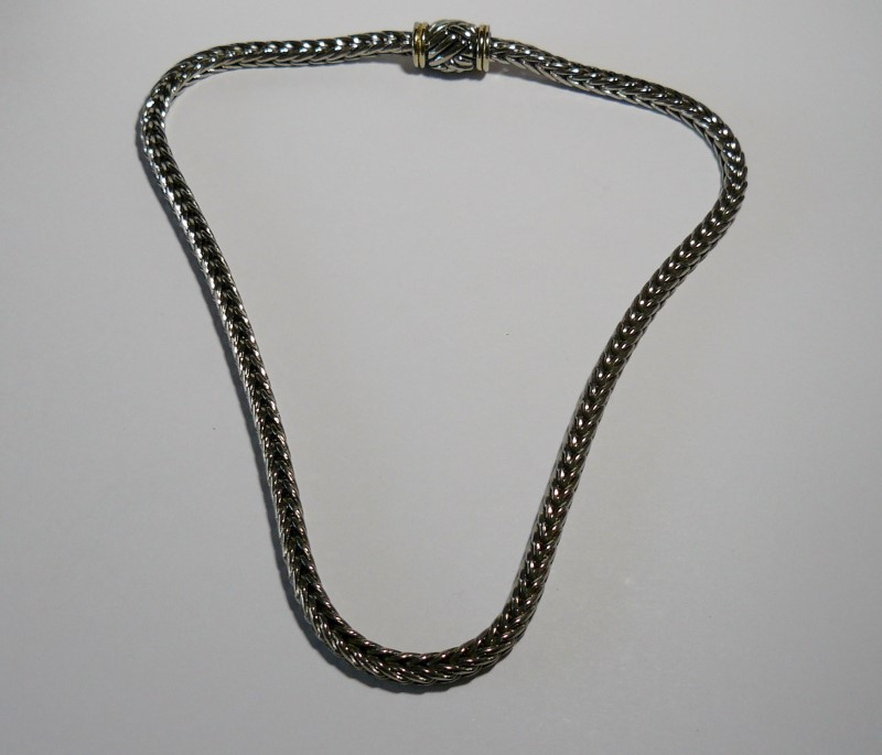 "16"" Necklace/Pendant Silver Stainless 43.8dwt"
