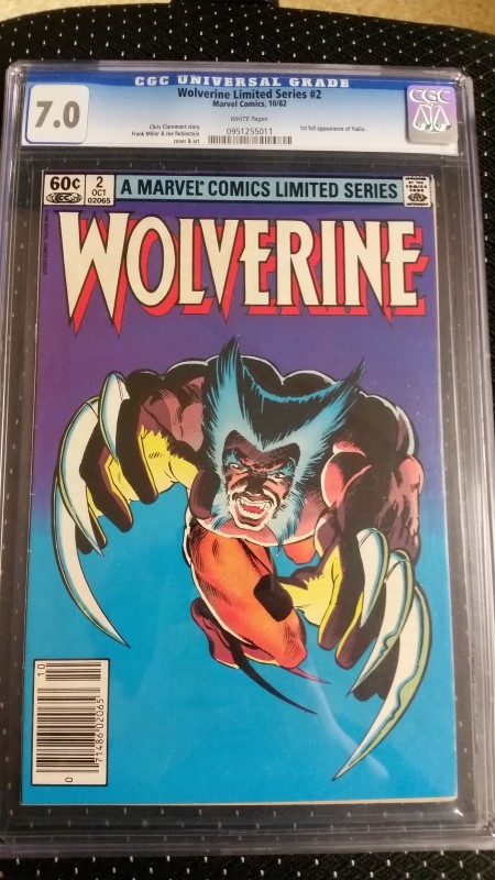 Wolverine Limited Series #2 1982 CGC 7.0 White Pages 1st app. Yukio